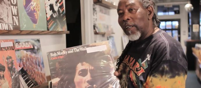 George Barret in record store