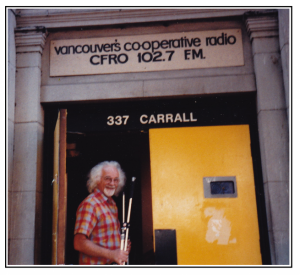 peter grant in front of 337 carrall street